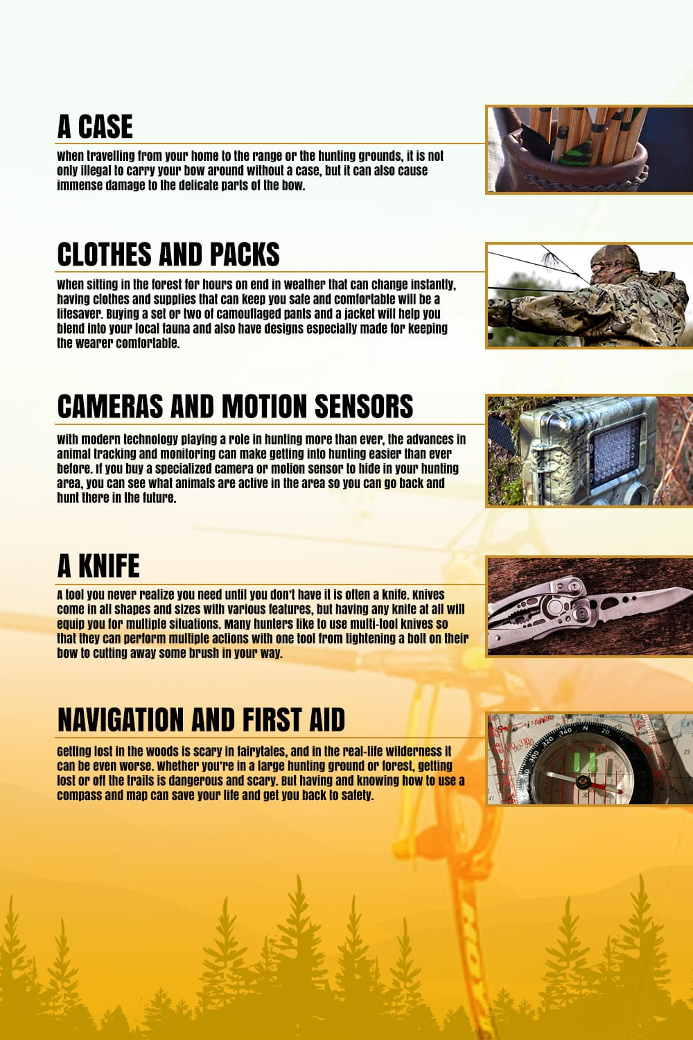 Bowhunting Gear Checklist - picture 2